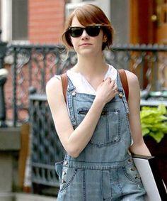 Emma Stone Overalls