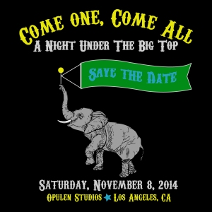 The Big Top Gala Save The Date [Updated 7-26-2014]